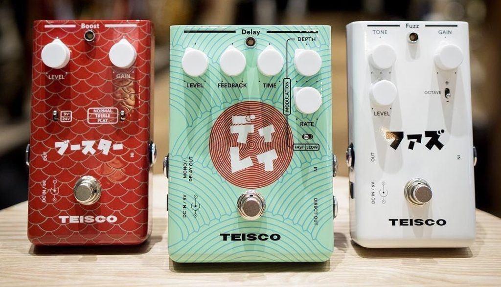 Así son los pedales Teisco: Delay, Boost y Fuzz