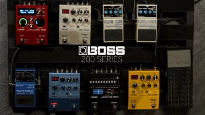 La serie 200 de pedales Boss, disponible en Musicopolix